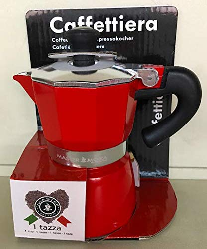 Acquisto mastercasa CAFFETTIERA Moka 3 Tazza Colore Rosso Prezzi offerta