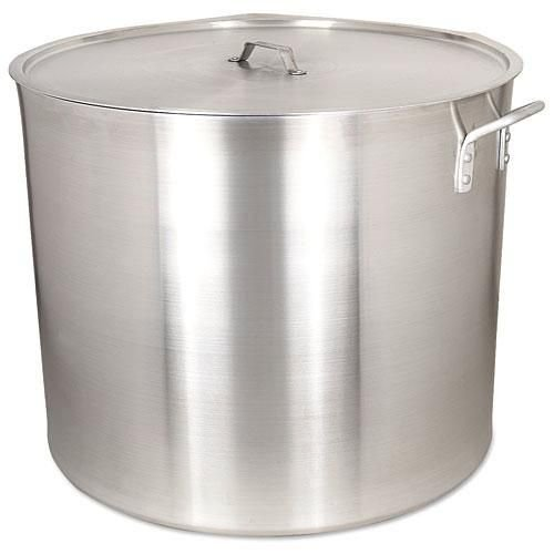 Alegacy Heavy Duty Aluminum Stock Pot with Lid, 140 Quart - 1 (140 Quart Pots)