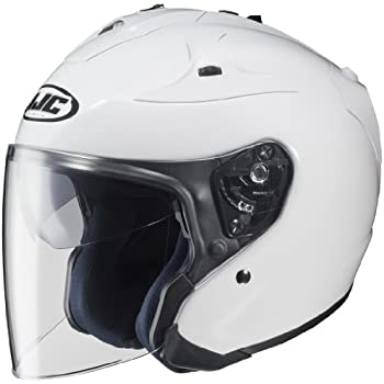 HJC FG-JET Open-Face Motorcycle Helmet (White, Medium)