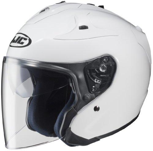 HJC FG-JET Open-Face Motorcycle Helmet (White, Small)