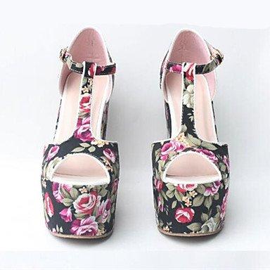 NVXZD Da donna-Tacchi-Matrimonio Formale Serata e festa-Cinturino Club Shoes-Zeppa-Tessuto-Nero Blu scuro Rosso Azzurro chiaro , light blue , us5.5 / eu36 / uk3.5 / cn35