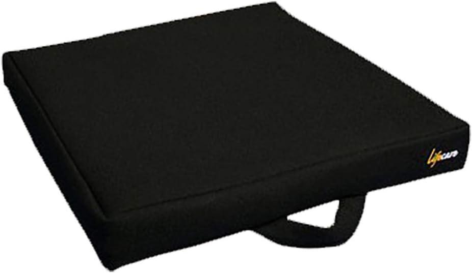 Cojin antiescaras de flotación líquida | Cuadrado 40x40x6 cm | Evita la aparición de llegas en la piel | Mejora la circulación sanguínea | Funda exterior lavable | Fabricado en España