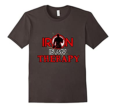 Mens Iron is my Therapy | Gym Exercise Bodybuilding T-shirt