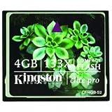 Kingston Elite Pro 4 GB 133x CompactFlash Memory Card CF/4GB-S2