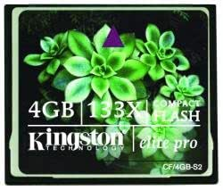 Amazon.com: 4 GB Kingston Elite Pro 133 X CompactFlash ...