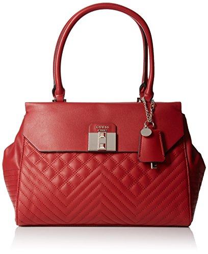 Guess Womens Quilted Satchel Handbag