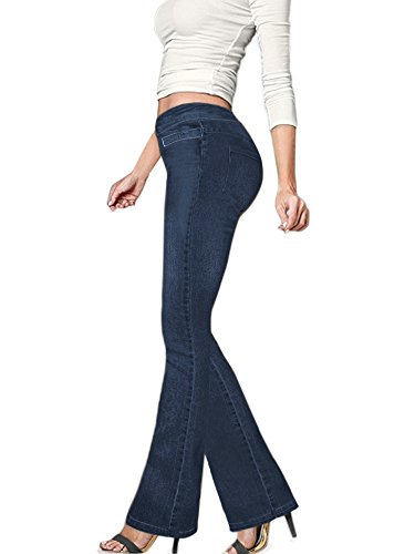 HyBrid & Company Women's Skinny Bootcut Stretch Pant P15P944 Blue 7
