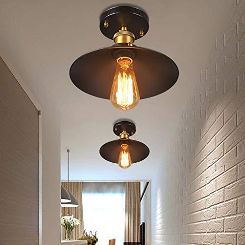 Gotian E27 Ceiling Light, 220V Flushmount Light Fixture, Vintage Metal Shade Light, Hanging Industrial Light Pendant Lighting Warm Light Ceiling Lamp for Bar Kitchen Dining Table Bedroom 22cm/8.7'' ()