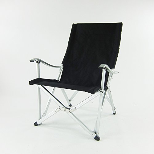 Onway Aluminum Portable Folding Luxury Comfort Chair - Black | Outdoor | Camping | Event | Backyard | Tailgating
