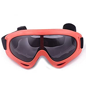 Minalo UV Protection Outdoor Sports Ski Glasses CS Army Tactical Military Goggles Windproof Snowmobile Bicycle Motorcycle Protective Glasses Ski Goggles (Orange)