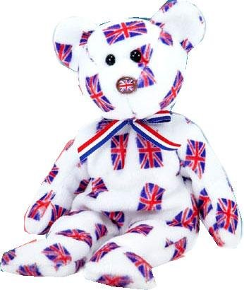 86c556e0b18 Image Unavailable. Image not available for. Color  TY Beanie Baby - JACK  the Bear (UK Exclusive Version - Flag Nose)