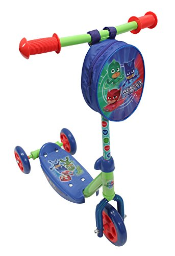 (PlayWheels PJ Masks 3-Wheel Scooter - Beginner Kick Scooter for Kids)