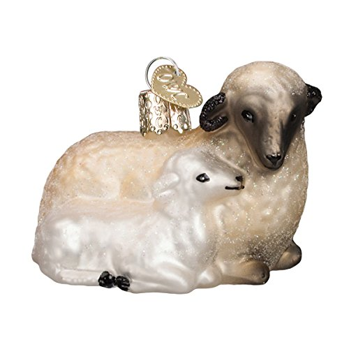 Lamb Ornaments (Old World Christmas Sheep with Lamb Glass Blown Ornament)