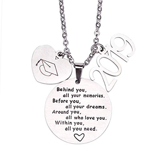 (2019 Graduation Gift Necklace Party Favors - Congrats Grad Stainless Steel Necklace Jewelry for Graduates)