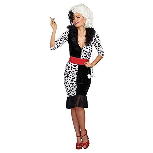 Tftw Cruella Deville Costume Adult Halloween Fancy Dress