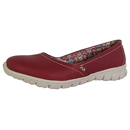 Skimmer Women's Skechers Leather Posie Ballet Red White Outsole Flat 1RqPpBw7Sq