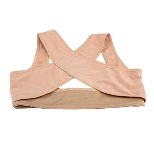 Sealike Chest Brace Up Prevent Humpback Correct Posture Corset Bra X Strap Vest (L) by Sealke