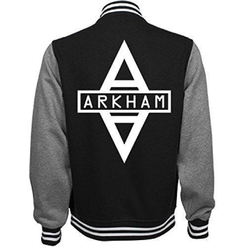 Arkham Asylum Inmate Costume (Arkham City Costume Bomber:Unisex Fleece Letterman Varsity Jacket)