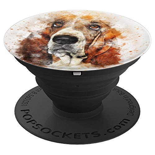 Basset Hound, Dog, Puppy, Pet, Doggie, Pup, Pop-Socket - PopSockets Grip and Stand for Phones and Tablets