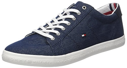 Sneaker Hilfiger Long Tommy Midnight Essential Uomo Blu 403 Lace awOIw
