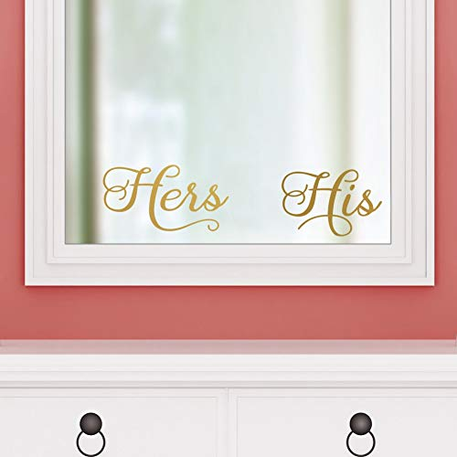 IARTTOP Minimalist Life Signs His Hers Wall Art Removable Vinyl Sticker Modern - His Hers Bathroom And Mirrors