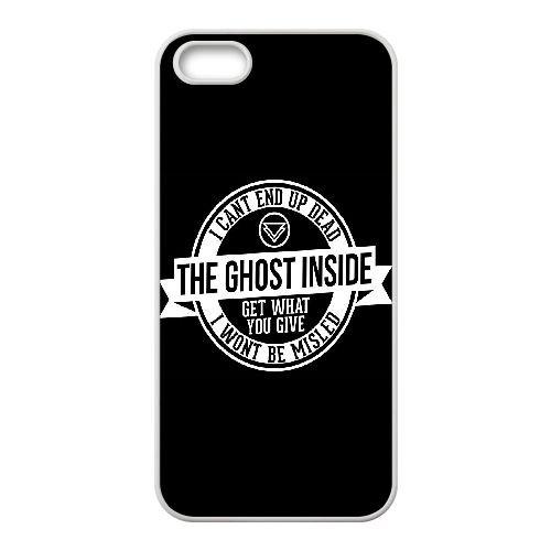H5J45 The Ghost Inside hd rétine K1C9SO coque iPhone 4 4s cellulaire cas de téléphone couvercle de coque blanche KV7UPO6BW