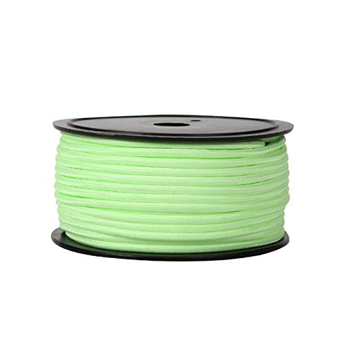 育成判決気配りのあるアウトドアクライミング安全補助コード5ミリメートル50メートル、キャンプテント防風ロープナイトロープロープ固定ロープ (色 : 緑, サイズ : Diameter5 mm/50 M)