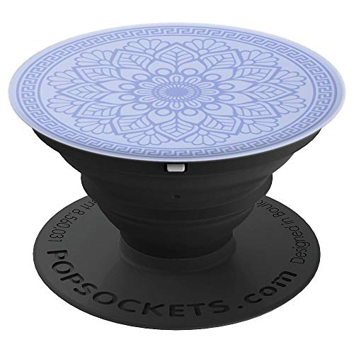 (Geometric Clove Purple Pattern Phone Popper - PopSockets Grip and Stand for Phones and Tablets )