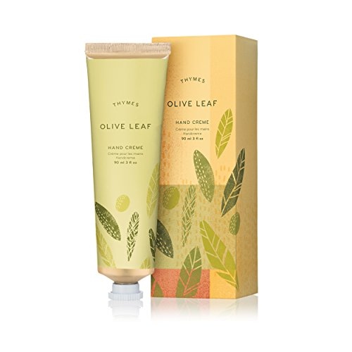 Thymes - Olive Leaf Hand Crème - Deeply Moisturizing Cream with Natural OIive Oil - 3 oz