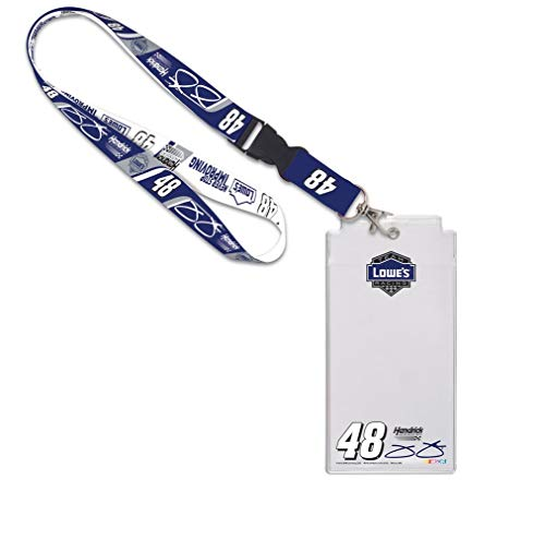 NASCAR Jimmie Johnson Lowe's Credential Holder - Lanyard Johnson Jimmie