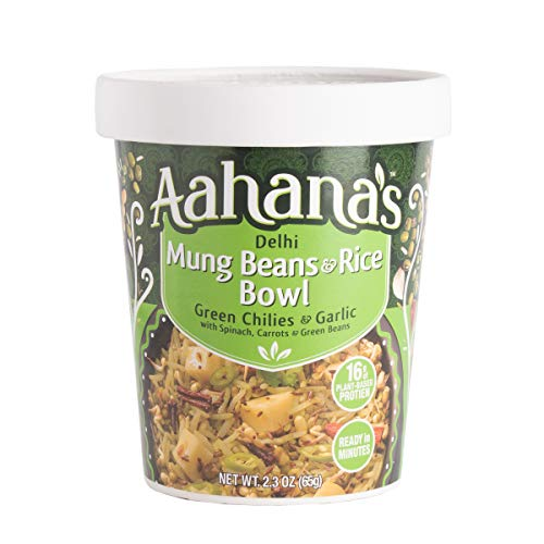 Aahana's Lentil and Rice Bowls - Gluten Free, NON-GMO, Vegan Food with 15g Plant-Based Protein - Ready-to-Eat, Vegetarian Meals, Just add Water - No Refrigeration Required - Variety 4- Pack 2.3 Oz 3