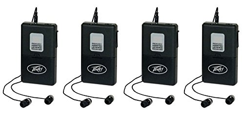 (4) Peavey ALSR 72.9 Mhz Assisted Listening Receiver Body Packs for ALS 72.9 System by Peavey