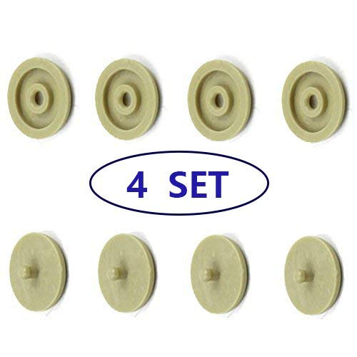 Seat Belt Stop Button Buttons Prevent Seatbelt Buckle from Sliding Down The Belt Set of 4 Plastic Seat-Belt Stopper Clips Snap-On System No Welding Required Beige - As Seen on TV ()