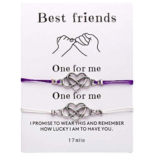 (2 PCS Bracelets Creative New Couple Models Card Paper Gift Hand)