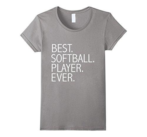 Womens Best Softball Player Ever Funny t-shirt Catcher Pitcher Medium - Softball Players Best