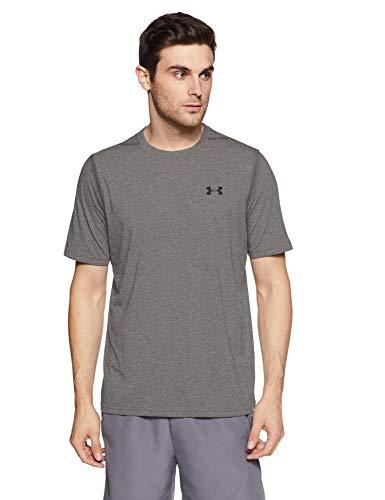 Black Heather Arch T-shirt - Under Armour Men's Threadborne Siro T-Shirt, Carbon Heather /Black, XXX-Large