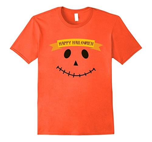 Mens Happy Halloween 2017 - Smiling Face Costume Shirt Medium (Group Halloween Costume Ideas For Adults 2017)