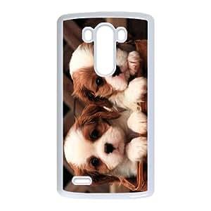Diy Cool Little Dog Custom for LG G3 White Shell Phone Cover Case LIULAOSHI(TM) [Pattern-1] by runtopwell