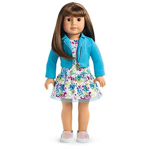 American Girl - 2017 Truly Me Doll: Light Skin, Brown Hair with Bangs, Brown Eyes - Haired Girl Brown
