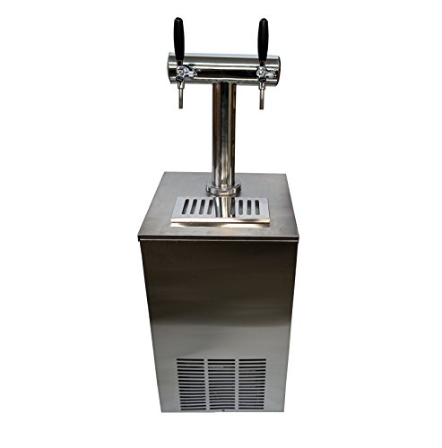 30inch 1-Tower 2-Faucets Outer Barrel Commercial Bar Beer Kegerator Cooler