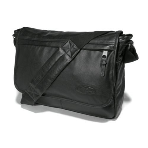 Eastpak Delegate Bolso Bandolera, 20 litros, Negro (Black Leather), 45 cm Negro (Black Leather)