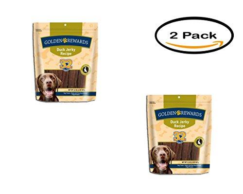 PACK OF 2 - Golden Rewards Duck Jerky Dog Treats, 32 oz by Golden Rewards (Image #3)