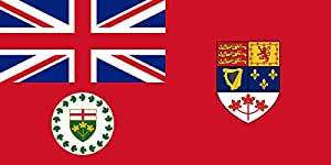 magFlags XL Flag Lieutenant Governor of Ontario used from 1959-1965 elements from File Canadian Red Ensign | landscape flag | 2.16m² | 23sqft | 100x200cm | 40x80inch - 100% Made in Germany
