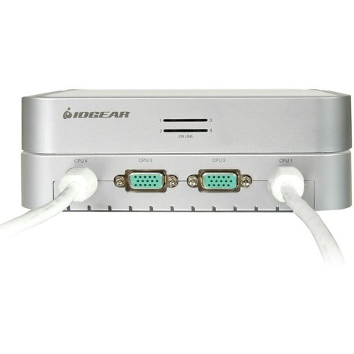 IOGEAR 4-Port MiniView Micro VGA USB KVM Switch with Audio and Cables, GCS634U by IOGEAR (Image #1)