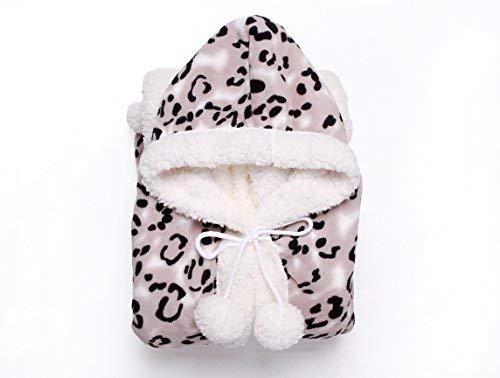 Chic Home Leopard Snuggle Hoodie 51x71 Robe Black, Standard,