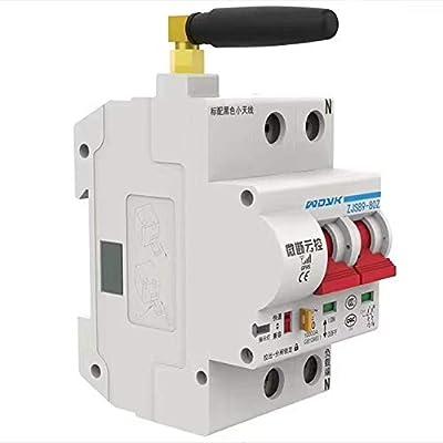 Finetoknow IP20 WiFi Smart Circuit Breaker, App Remote Control Automatic Switch Overload Circuit Protection Multiple Circuit Breaker