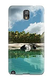 New Style Catherine J Dover Hard Case Cover For Galaxy Note 3- Island