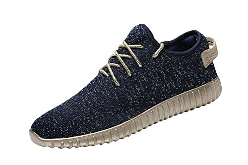 Circa Athletic Sneakers - T&Mates Mens Casual Fashion Sneakers Breathable Walking Athletic Sports Running Shoes (8 B(M)US,Blue)