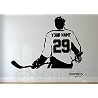 Personalized Hockey Wall Decal - Choose your NAME & NUMBERS Custom Player Vinyl Decal Sticker Decor Kids Room Decor
