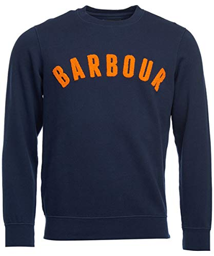 Mens Logo l Barbour Crew Navy Sweatshirt Prep nHqUqxg